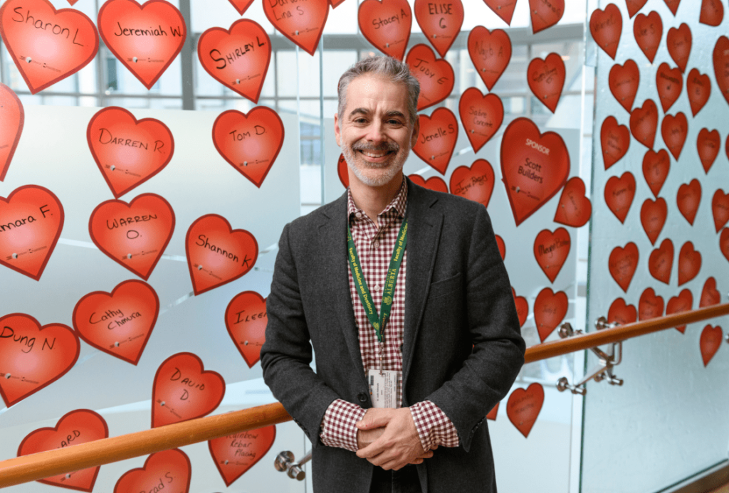 Dr. Justin Ezekowitz at 630 CHED Heart Pledge Day in 2019